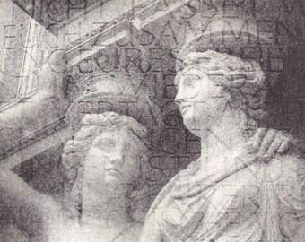 "Lithograph ""Vienna Waltz"", Original limited edition lithograph, architectural, lithograph"