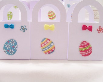 19 Baby shower pastel favour boxes -  birthday/baby shower/Easter favours - table decorations - colourful egg treat boxes - Easter boxes