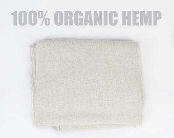 100% Organic Hemp - Natural Soft Hemp Fabric Woven in Northern Thailand - Organic Fabric, Natural Fabric, Cream Fabric, Pure Hemp / Cannabis