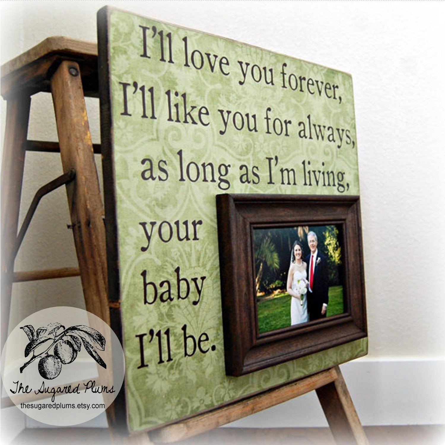 Wedding Gift Photo Frame: Father Of The Bride Personalized Frame Custom Wedding Gift