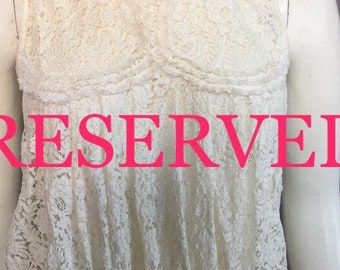 RESERVED edwardian lace corset cover