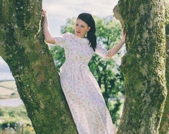 Cherry print dress, open back maxi dress, wedding, open back dress, maxi dress, cotton dress, summer dress, occasion wear, SS17, bridesmaid