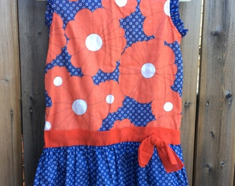 Little Star 60s floral tunic