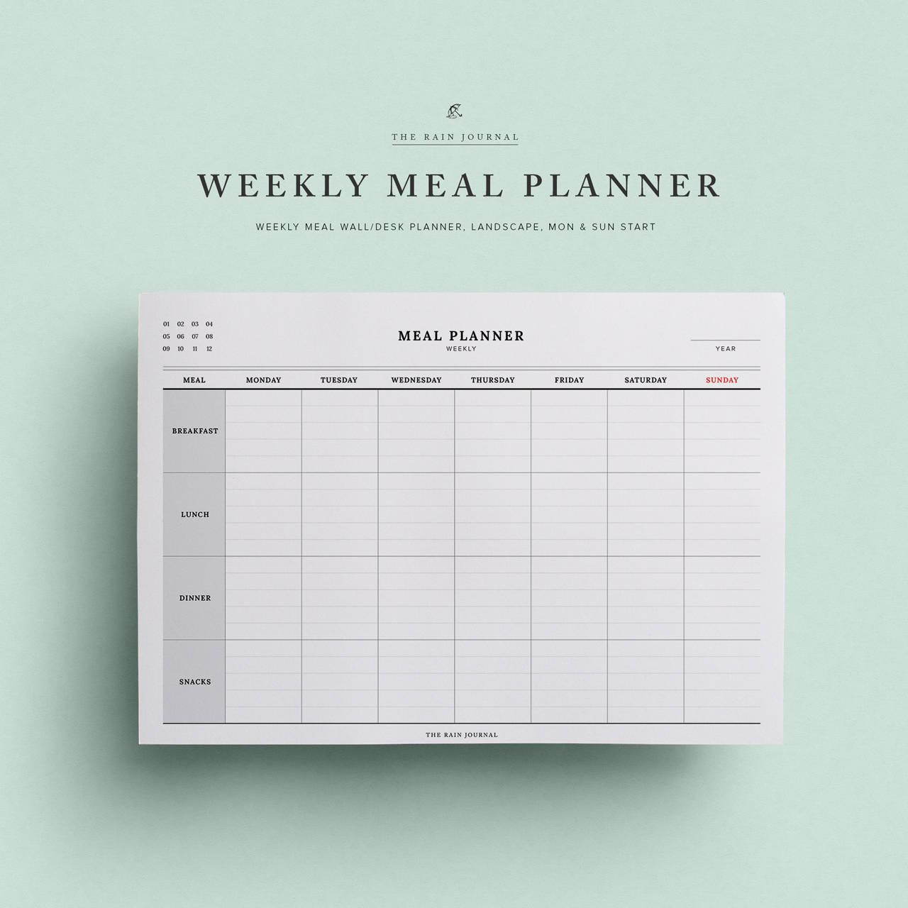 Gemütlich Wöchentliche Essen Planer Vorlage Fotos - Beispiel ...