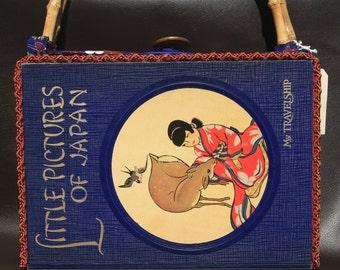 Custom Made Vintage Book-Purse w Japanese Theme