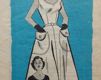 Mail order 9101 misses sundress w/bolero size 14 bust 32 vintage 1950's sewing pattern  Marian Martin
