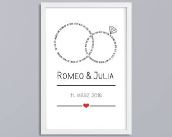 Marriage-rings-art print without frame