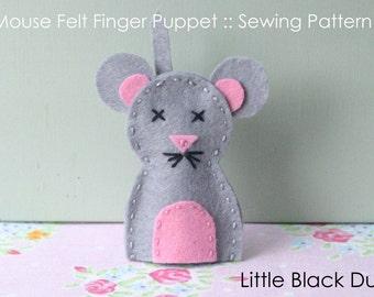 Pattern: Mouse Felt Finger Puppet