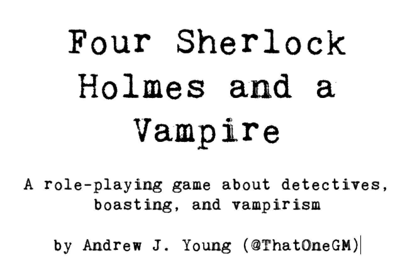 Four Sherlock Holmes and a Vampire RPG PDF