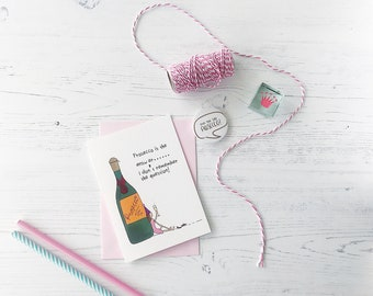 funny birthday card-birthday card-girlfriend gift-prosecco card-birthday cards-happy birthday-prosecco lover-gift for friend-friend gift