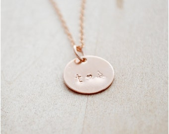 Rose Gold Initials Necklace - Couple's Initial Necklace - Initial Jewelry - Rose Gold Filled Personalized Jewelry - Long Layered Necklace