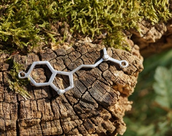 Small DMT Necklace, DMT Molecule, Molecular Structure DMT