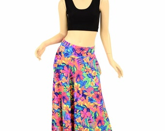 UV GLOW Tahitian Floral Long Maxi Skirt with Pockets - 155205