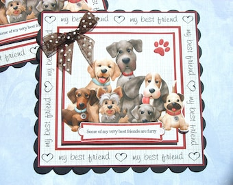 Birthday Card Toppers for Dog Lovers some of my best friends are furry card making toppers for cards crafts scrapbooks