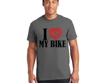 I Love my Bike Tshirt, Tee, Shirt, Gift for Her, Gift for Him