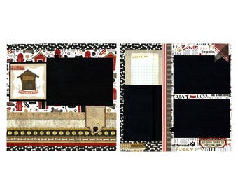 Premade Scrapbook Page Set - A House Is Not A Home Without A Dog