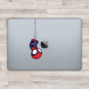 Spiderman MacBook Decal Superhero MacBook Sticker Marvel Laptop Sticker Spider man Laptop Decal MacBook Pro Decal MacBook Air Sticker bn820