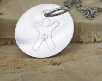Sterling Silver Necklace Symbol for the International Child - Awareness Advocacy
