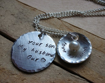 Necklace Mother In Law Gift-Daughter in Law Gift-Mothers Day -Mother in Law Necklace-Wedding-Mother of the Groom-Bride