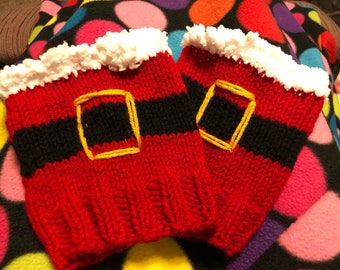 Knitted santa Boot cuffs