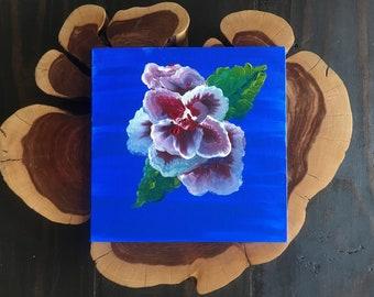 Original Floral Painting- Iris inspired