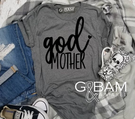 Godmother Shirt / Godmother SQUAD / Future God mother shirt / CUSTOMIZABLE Boyfriend tee /