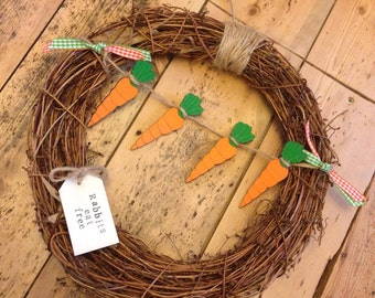 Dotty Dolittles Rabbits Eat Free Wreath