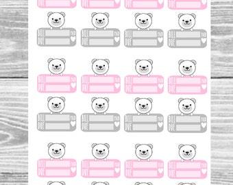 Kawaii Polar Bear Mini Bill Due Sticker