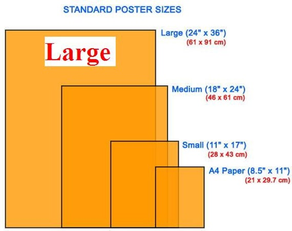 Large Poster 24 x 36 Inches 610 x 910 mm