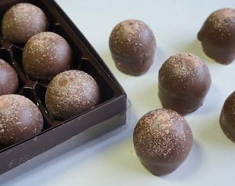 Milk Chocolate Grand Marnier Truffles 15pc. box w/clear top