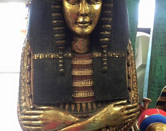 Life Size Egyptian Queen Sarcophagus Cabinet Statue 75'' H