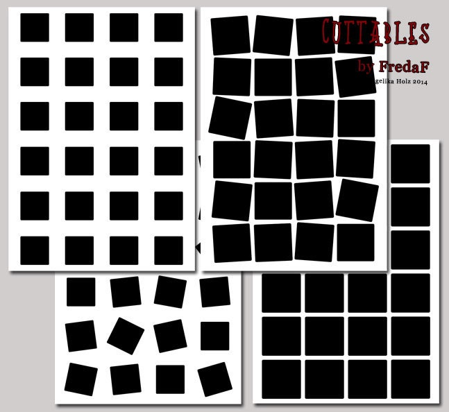 SVG squares stencils 4 cut files for electronic cutting