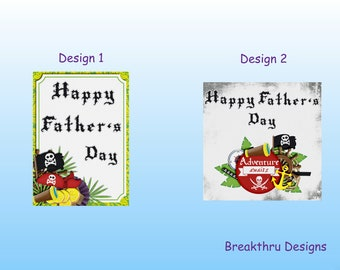 Father's Day Card, Pirate Father's Day Card, Grandad, Dad, For Him