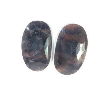Sapphire faceted gemstone 22x40mm