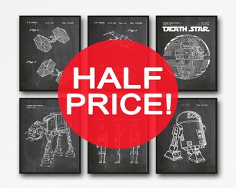 6 Star Wars patent Posters Set of Star Wars Posters Star Wars Print Star Wars Decor Star Wars Gift Star Wars Art Print Space Art (WB121)
