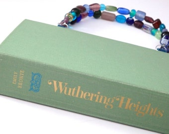 Emily Bronte Wuthering Heights Book Purse, Book Clutch, Beaded Handles