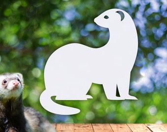 Ferret Car Decal / Ferret Decal / Ferret Sticker / Ferret Vinyl Decal / Ferret Car Window / Ferret Bumper Sticker (Indoor & Outdoor)