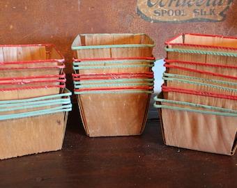 Set of 10 Vintage Berry Baskets