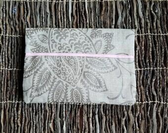 Linen Hand Clutch / Linen Evening Clutch / Linen Brides Maid Gift