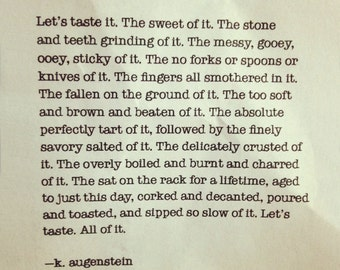 Let's taste it