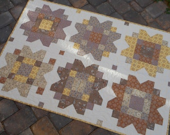 Baby Quilt--Cowgirl Browns and Yellows