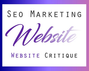 Website Review, Website Critique, SEO Help, SEO Keywords, Website Tips, Shop Help, Online Marketing
