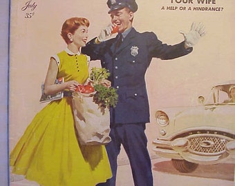 July 1955 The American Magazine has 136 Pages of Nice Ads and Articles, Nice Cover Art By Arthur Sarnoff