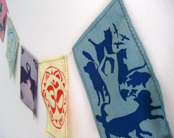 Animal Compassion Prayer Flags.