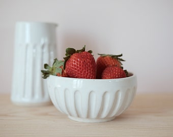 Handmade White Bowl - Hand carved pottery - Simple White Bowl - Ice Cream Bowl