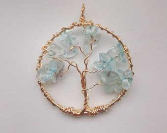 Tree of life wire wrap pendant