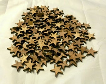 Choose from 50 to 1000 X 1 inch X 3/16 laser engraved cut wood Stars. Great for flag making, crafts, scrap books, or your project.