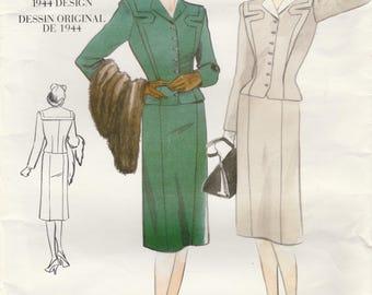 40s Retro Skirt Suit Pattern Vogue 2198 Size 12 Uncut