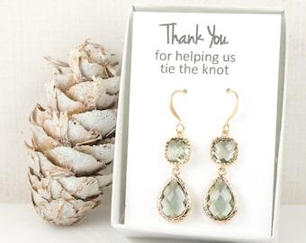 Long Charcoal Gold Teardrop Earrings, Gold Charcoal Earrings, Grey Gold Earrings, Bridesmaid Jewelry, Charcoal Wedding Jewelry