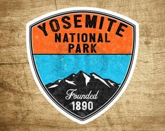 "YOSEMITE NATIONAL PARK California Vinyl Sticker Bear Mountain Hiking Camping Climbing Decal 3.1"" X 3"""